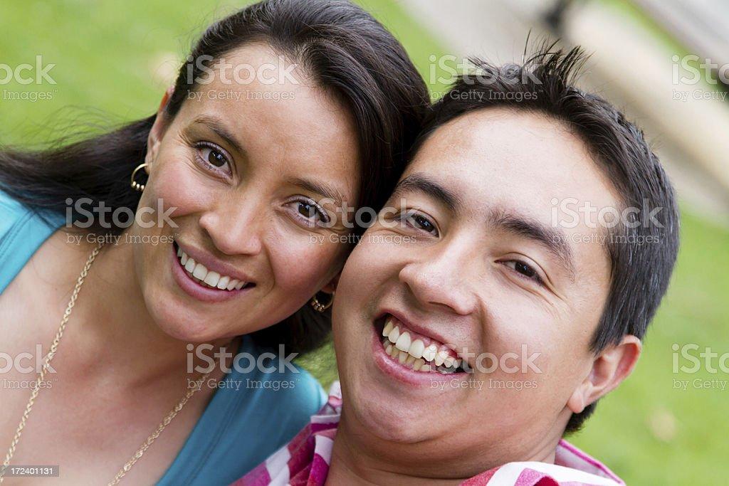 Happy couple smiling royalty-free stock photo