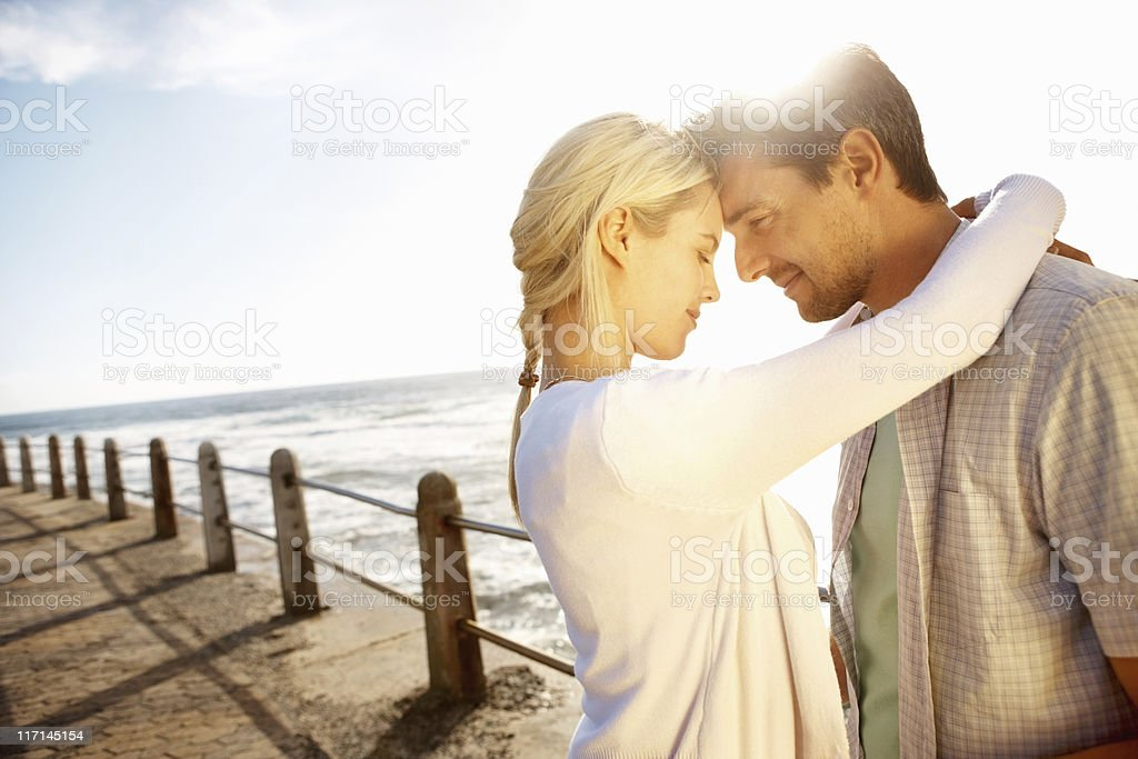 Happy couple spending time together royalty-free stock photo