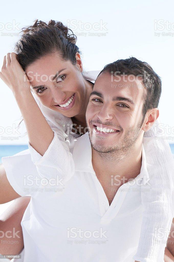 Happy couple vacation royalty-free stock photo