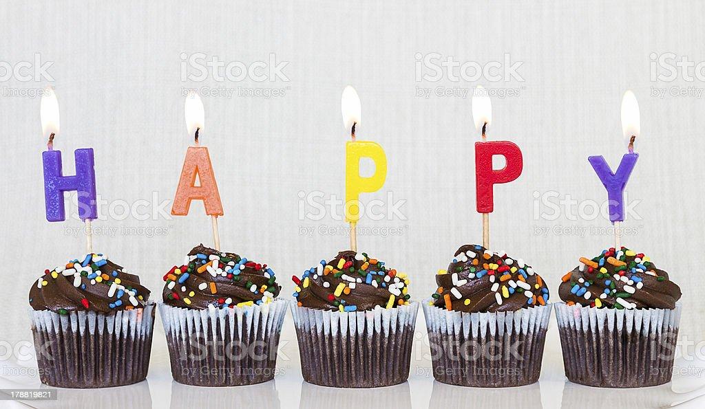 Happy Cupcakes royalty-free stock photo