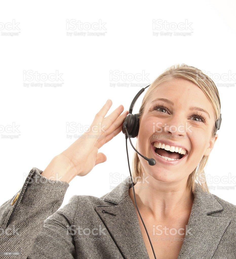 Feliz de servicio de atención al cliente foto de stock libre de derechos