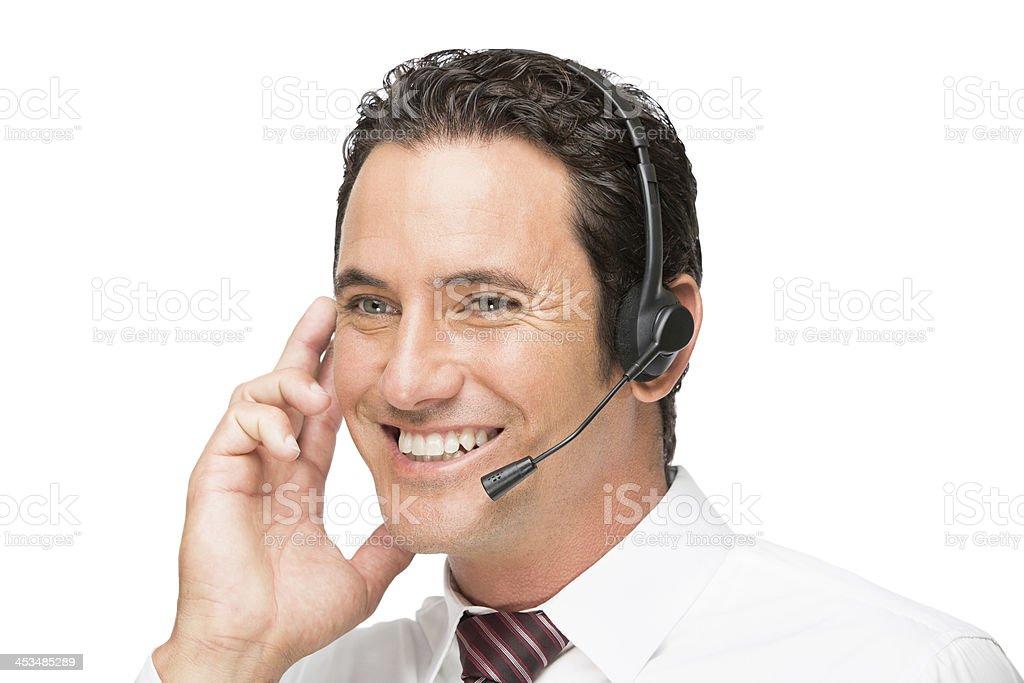Happy customer service representative royalty-free stock photo