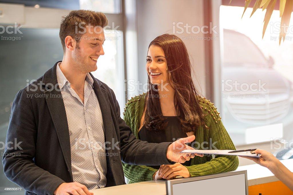 happy customers stock photo