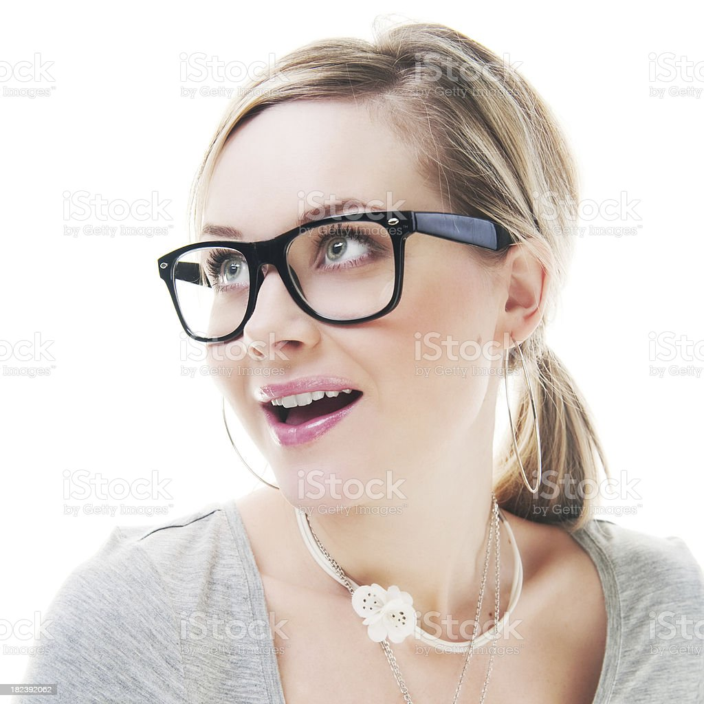 Happy cute woman royalty-free stock photo