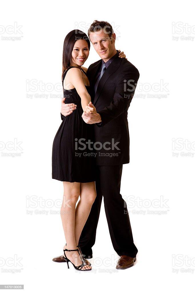 happy dancinng pair royalty-free stock photo