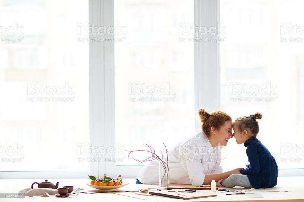 Happy day, happy family stock photo