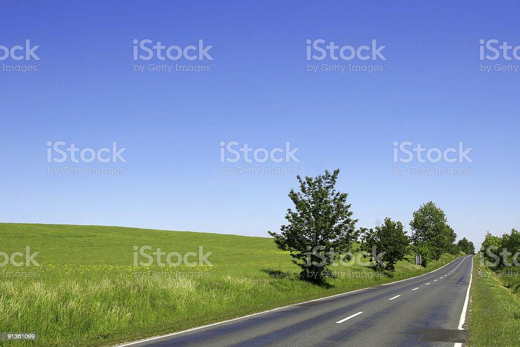 Happy day road royalty-free stock photo