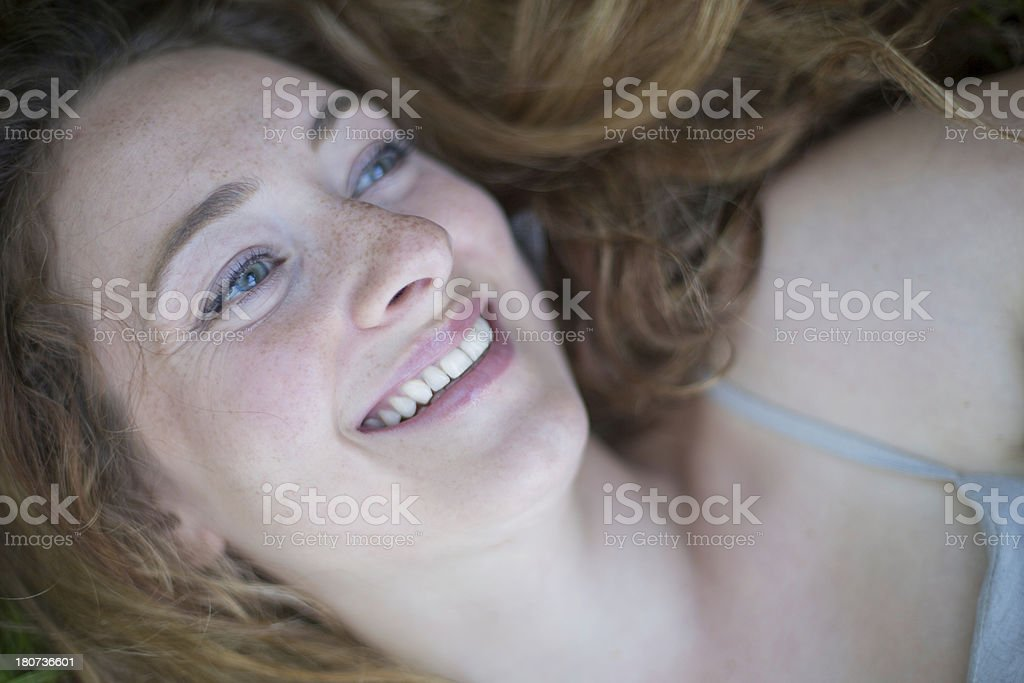 Happy Daydreaming royalty-free stock photo