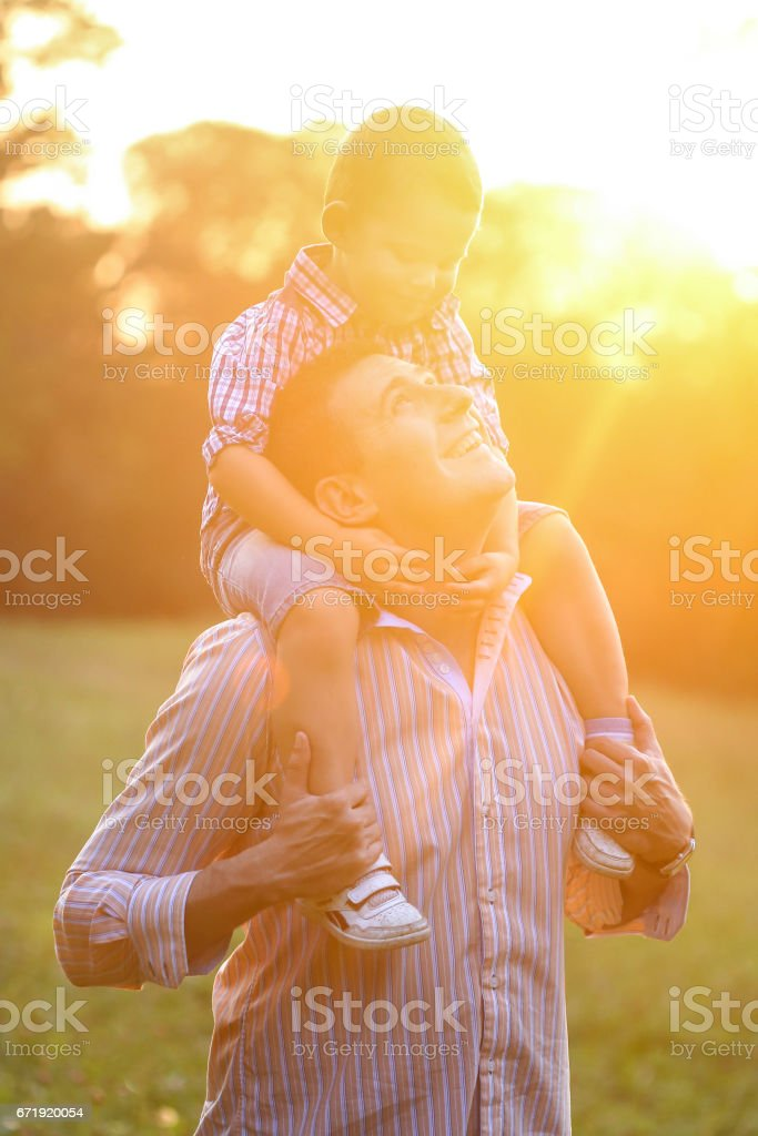 Happy days with family stock photo