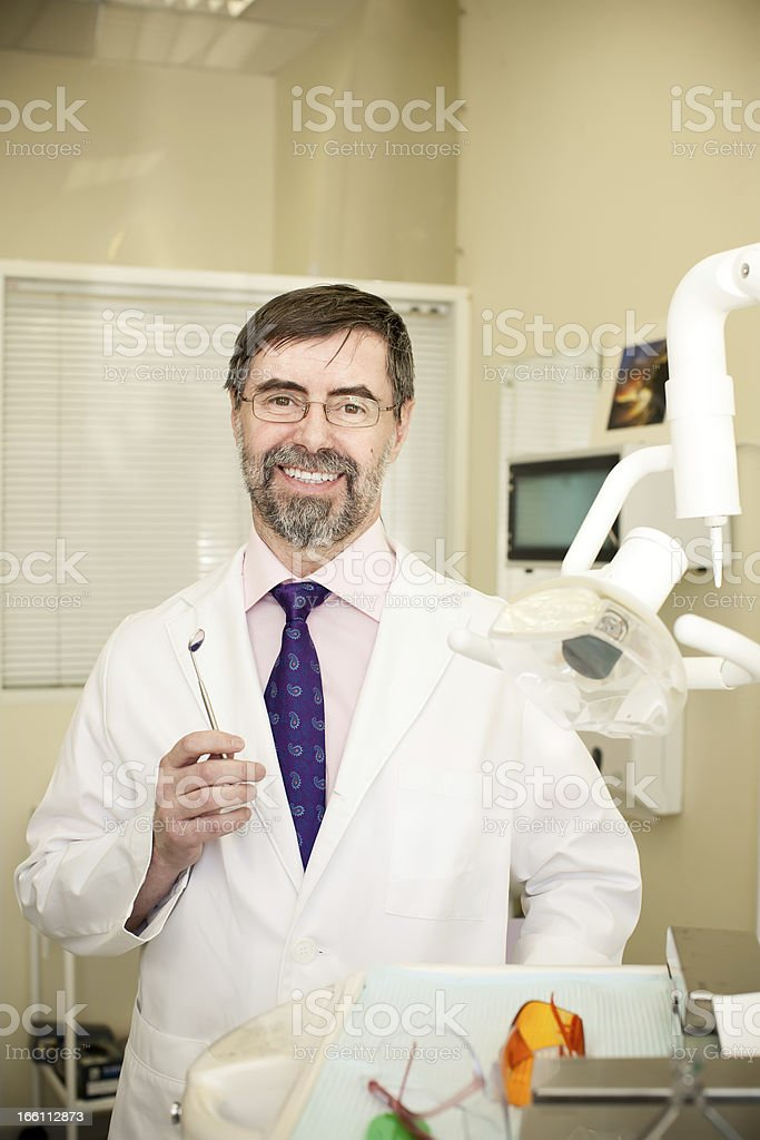 happy dentist royalty-free stock photo