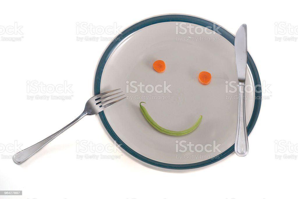 Happy diet plate royalty-free stock photo