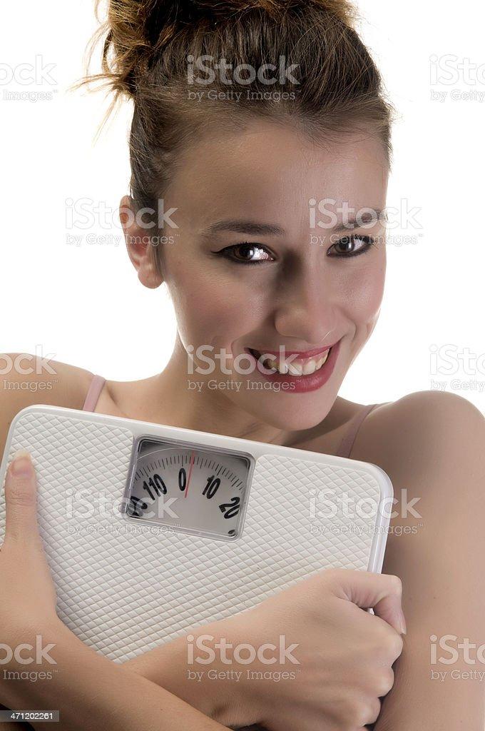 Happy dieting stock photo