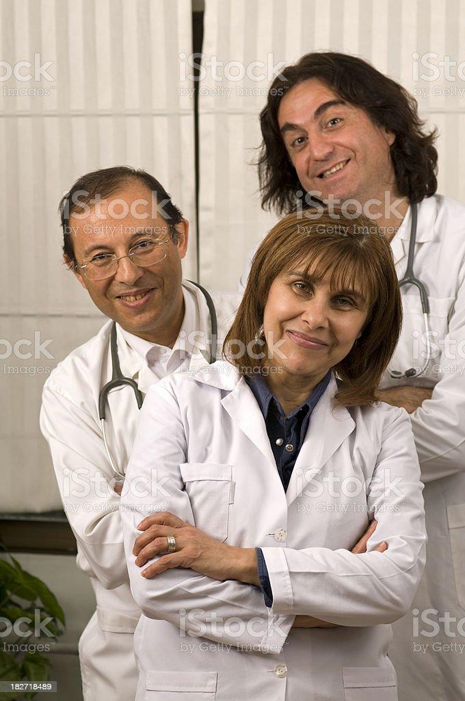 Happy Doctors royalty-free stock photo