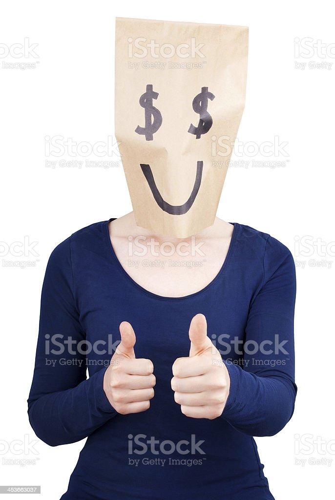 happy dollar sign stock photo