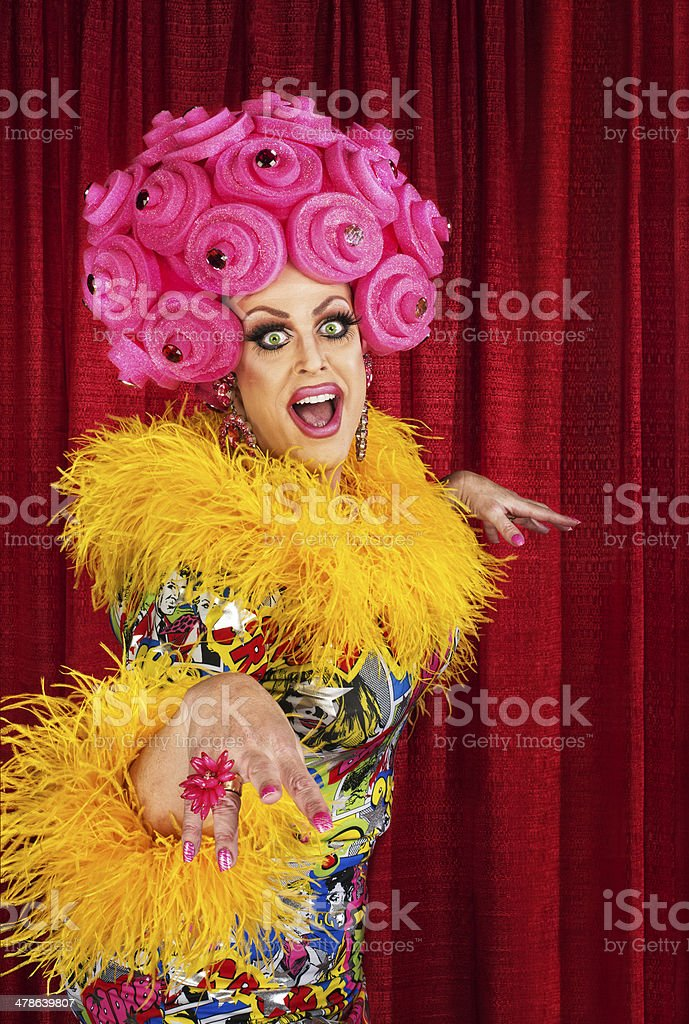 Happy Drag Queen stock photo