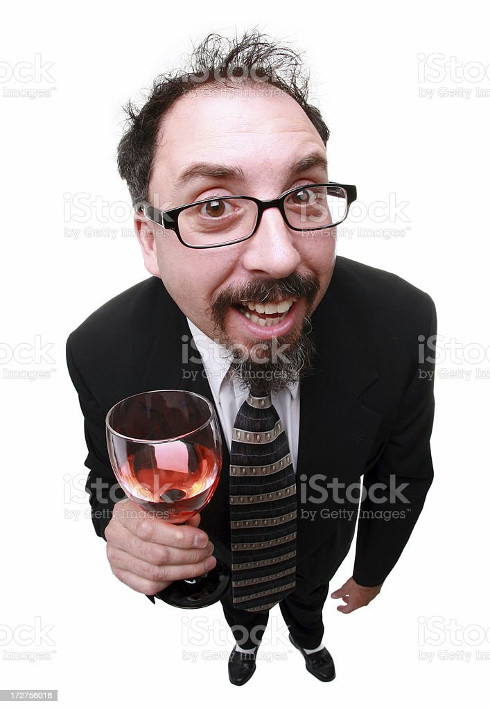 Happy Drinker royalty-free stock photo