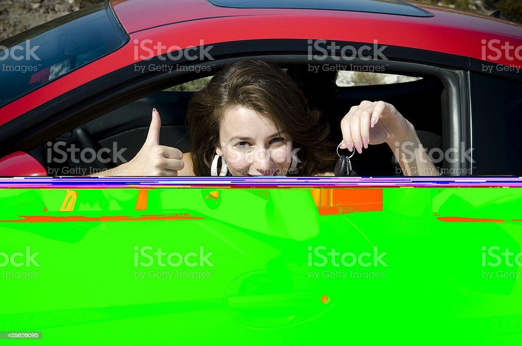 Happy Driver royalty-free stock photo
