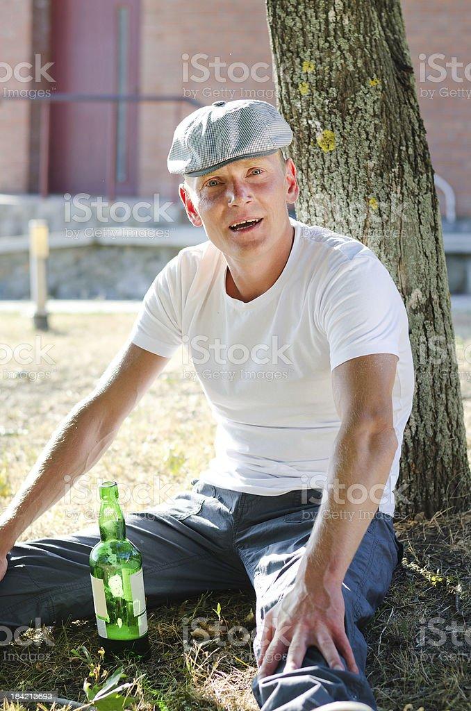 Happy drunk stock photo
