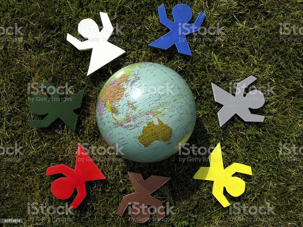 Happy Earth royalty-free stock photo