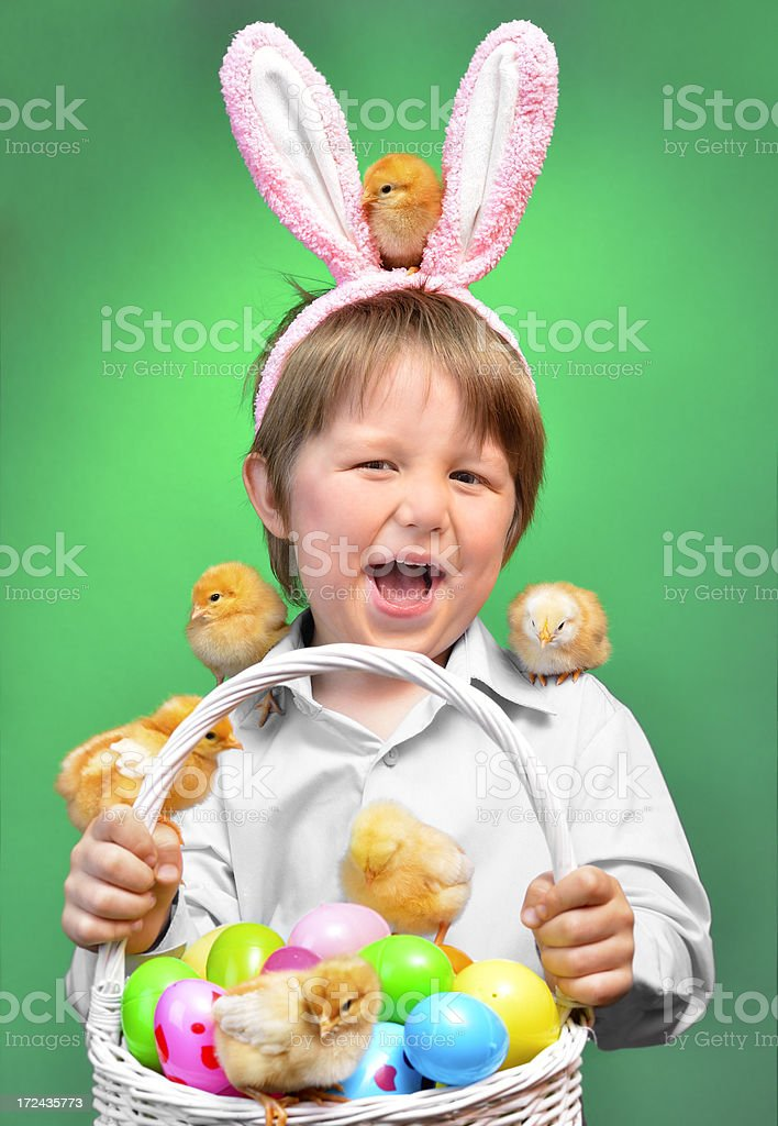 Happy Easter boy royalty-free stock photo
