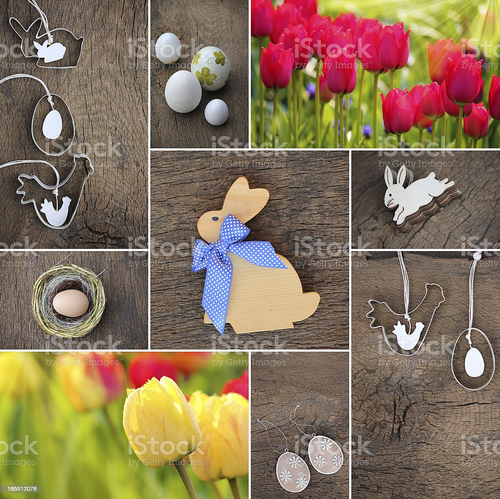 Happy Easter collage royalty-free stock photo