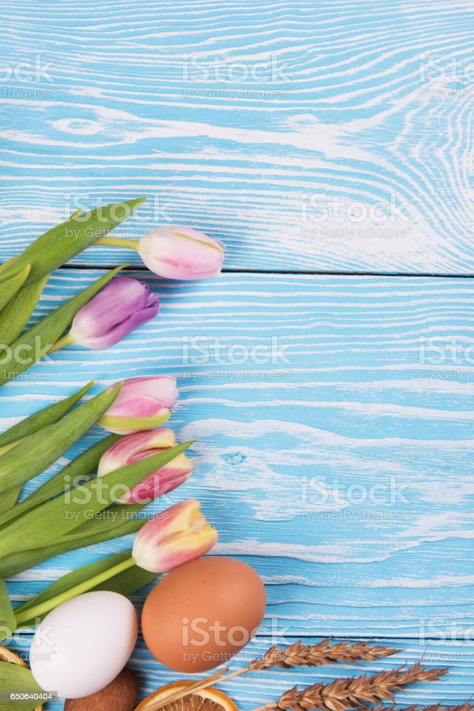 Happy easter coming stock photo