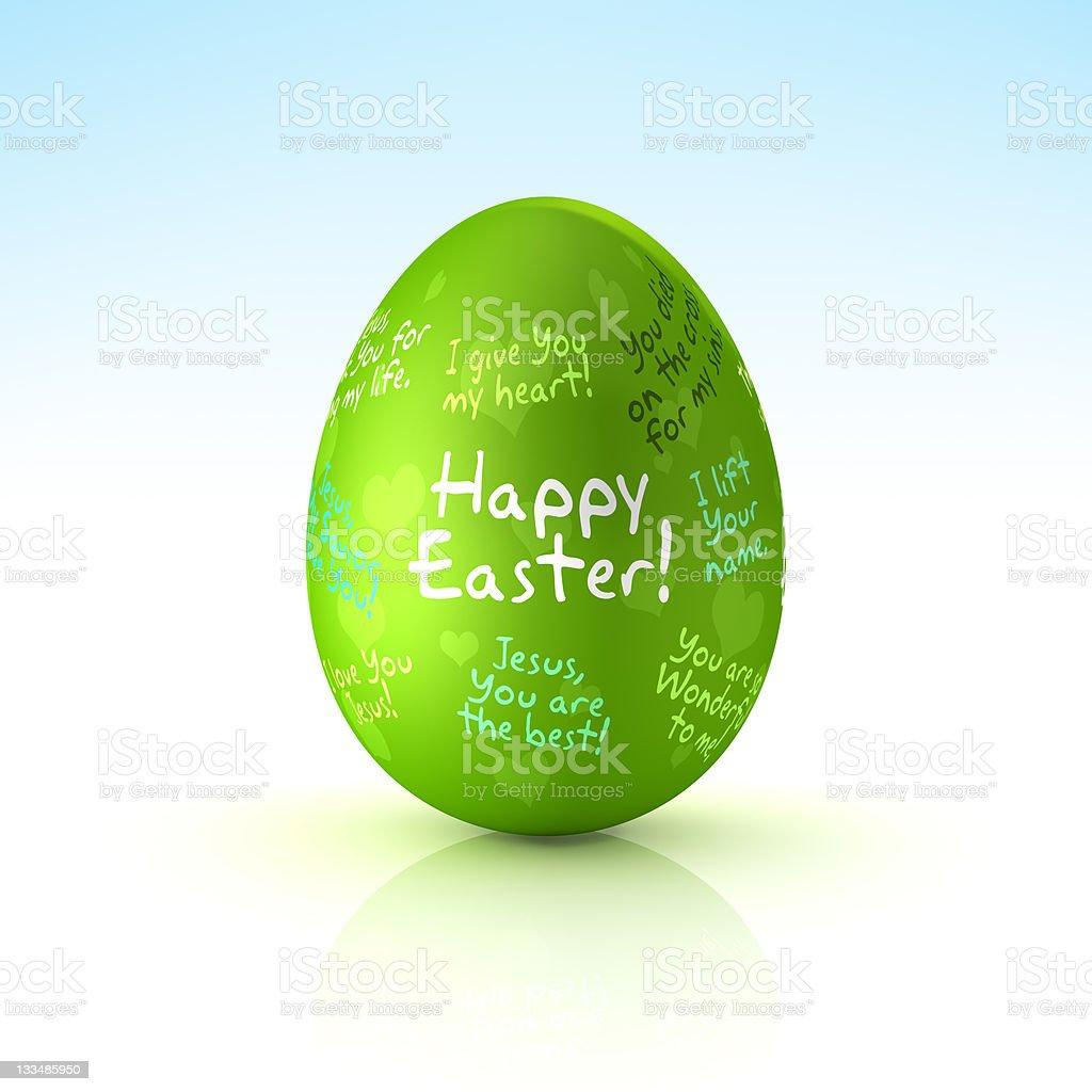 Happy Easter Egg (XXXL) royalty-free stock photo