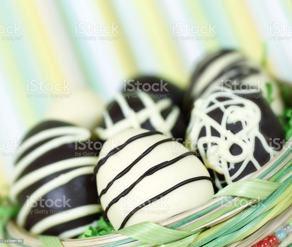 happy easter eggs royalty-free stock photo