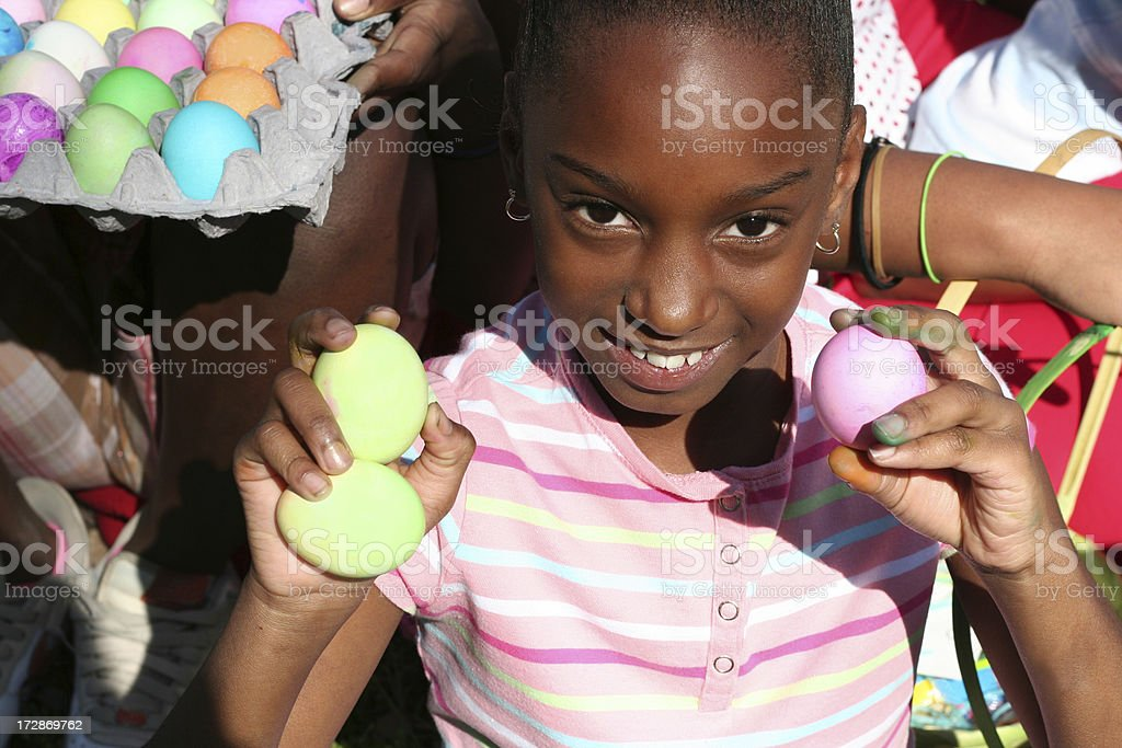happy easter girl royalty-free stock photo