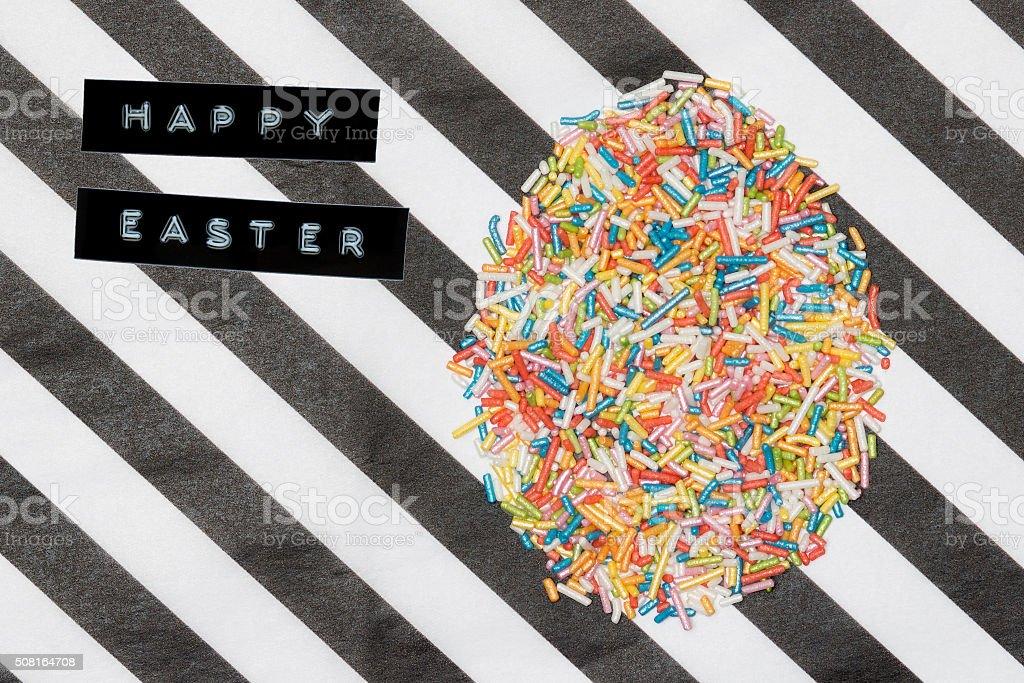 Happy Easter Sprinkles stock photo