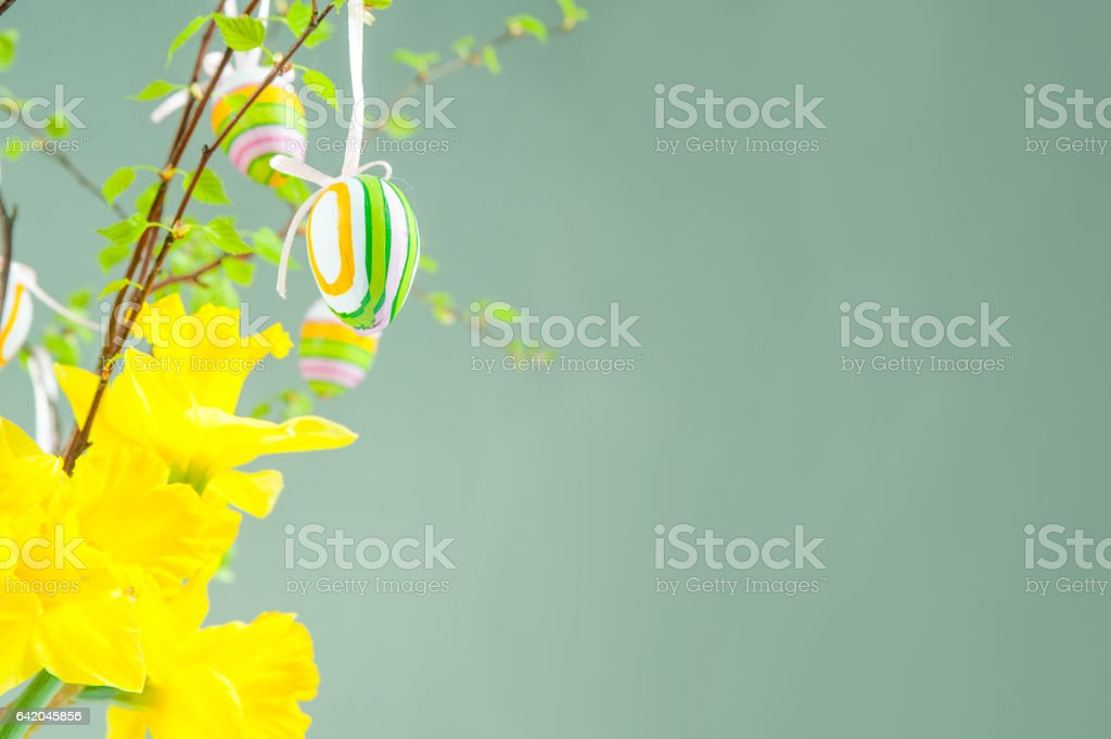 happy easter time stock photo
