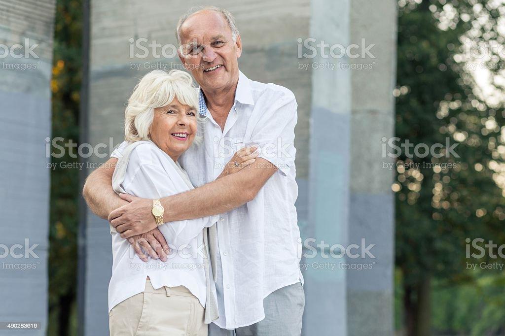 Happy elder people stock photo