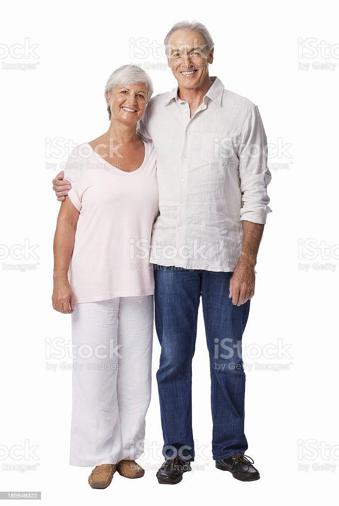 Happy Elderly Couple - Isolated royalty-free stock photo
