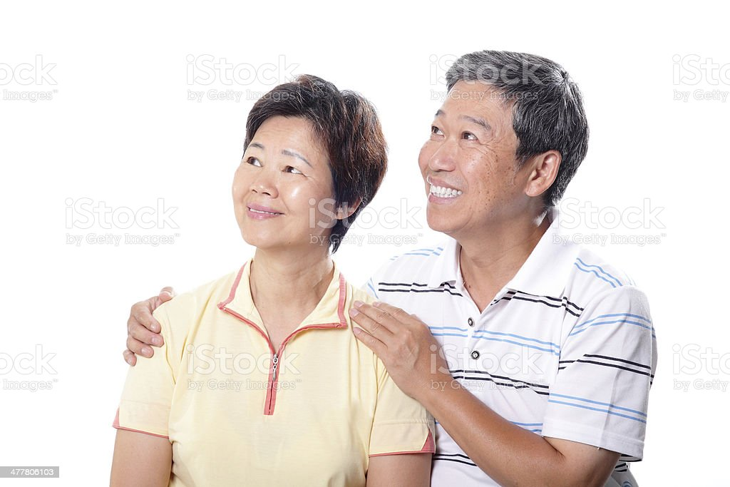 Happy elderly seniors couple royalty-free stock photo