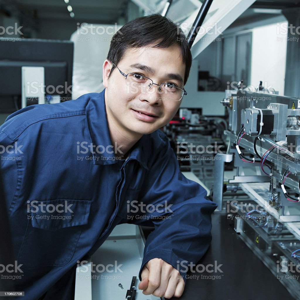 Happy electrical engineer royalty-free stock photo