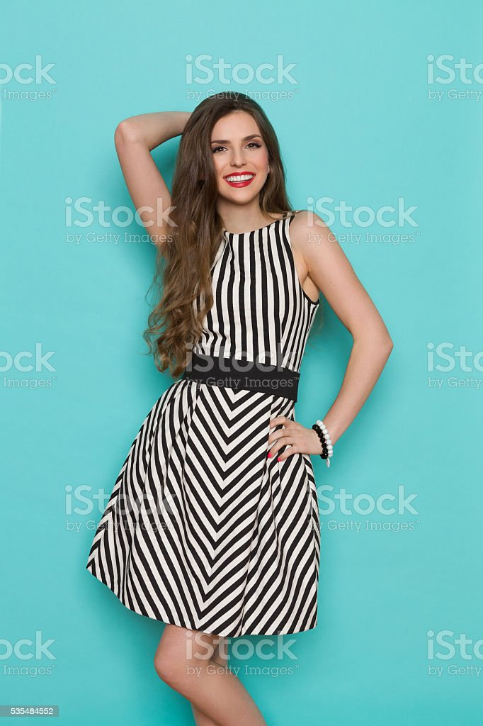 Happy Elegant Woman Posing stock photo