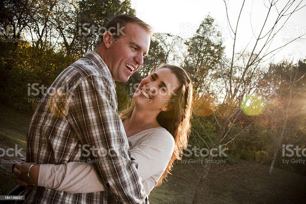 Happy Embracing Couple stock photo