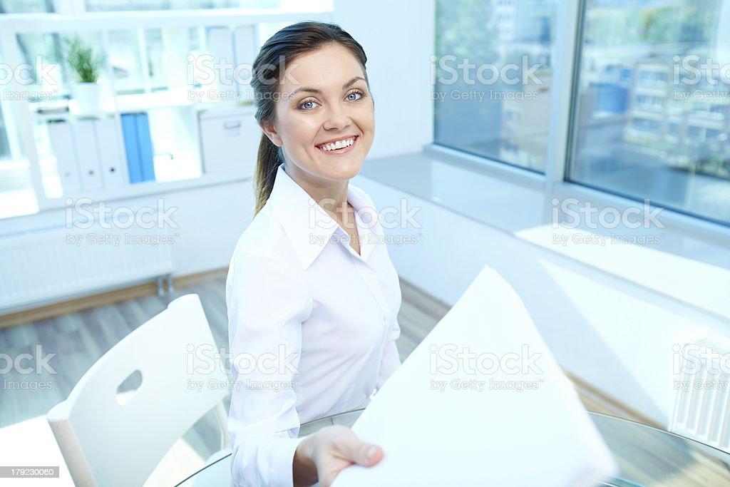 Happy employer royalty-free stock photo