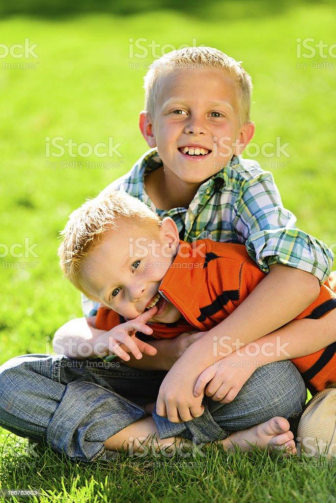 Happy Energetic Boys royalty-free stock photo