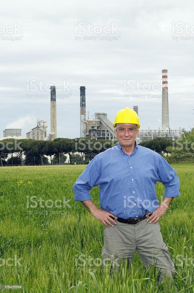 Happy Engineer royalty-free stock photo