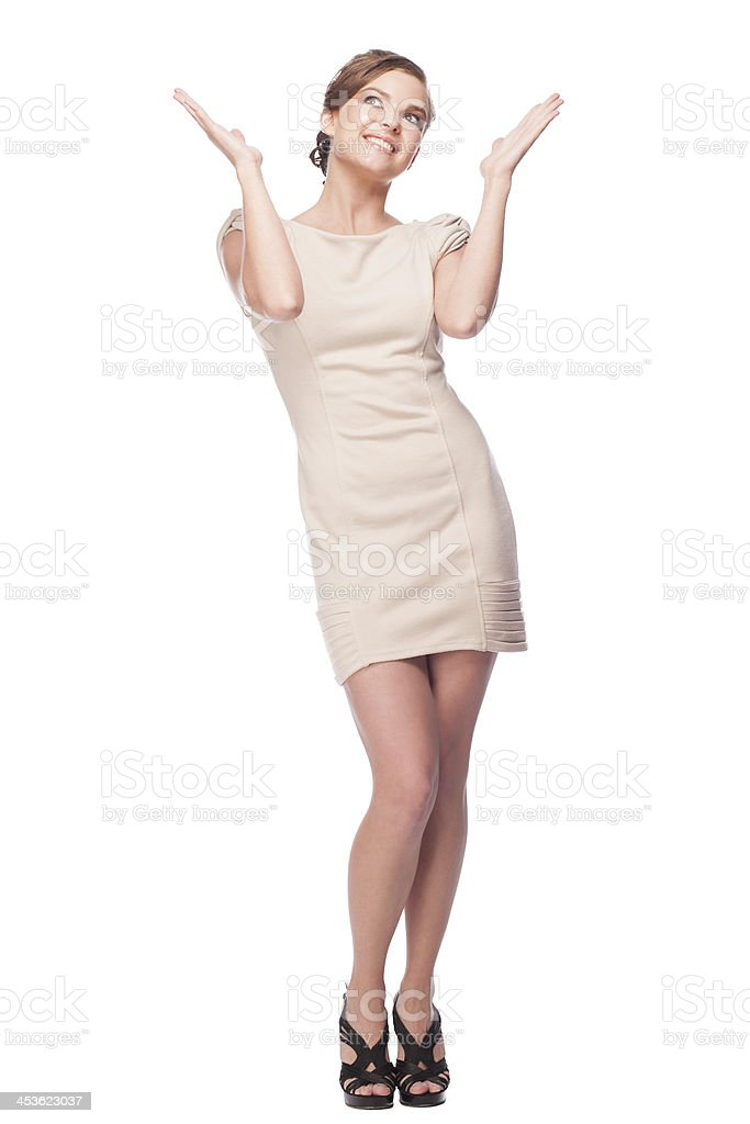 Happy excited woman royalty-free stock photo