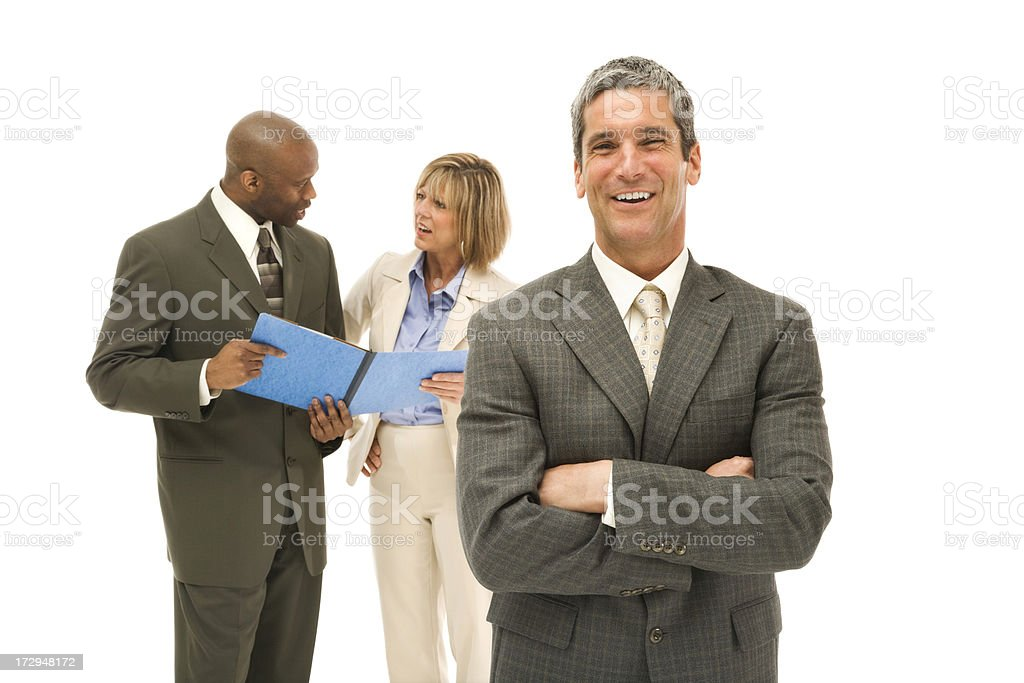 Happy Executive and His Team royalty-free stock photo
