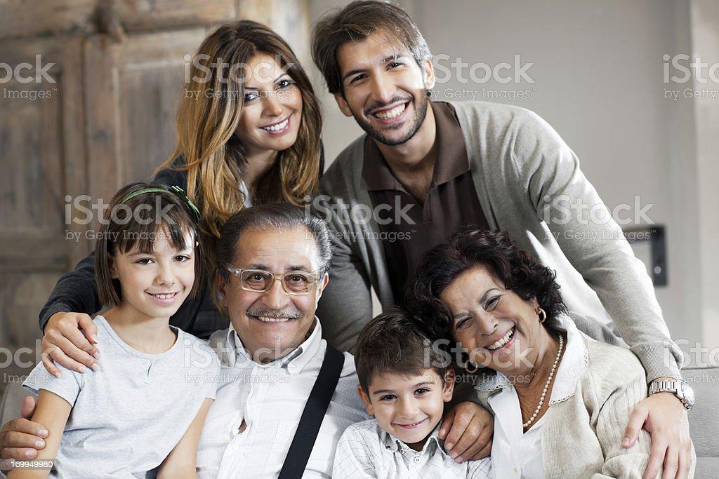 Happy extended family. royalty-free stock photo
