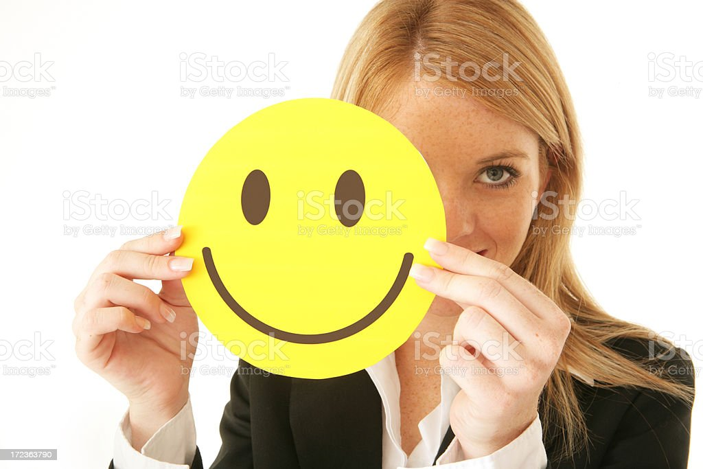Happy face Peep royalty-free stock photo