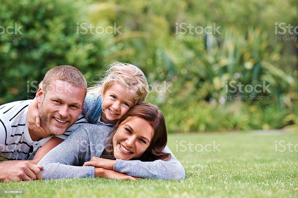 Happy families royalty-free stock photo