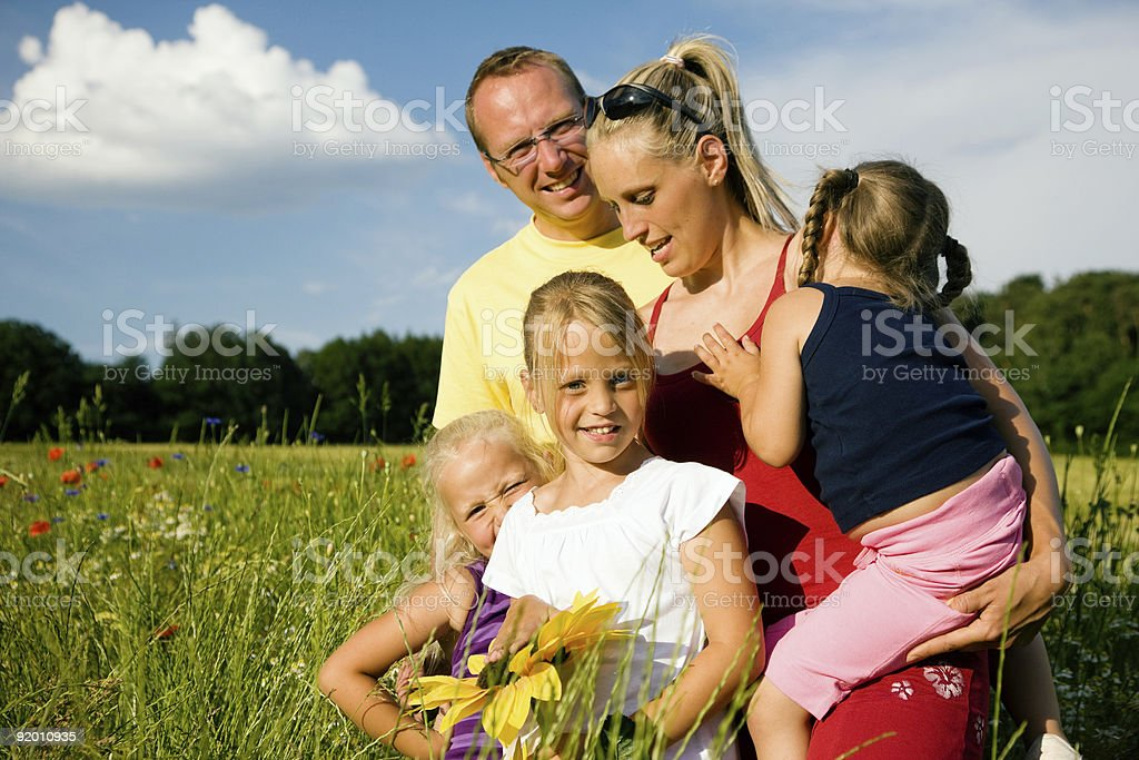 Happy Family and Summer royalty-free stock photo