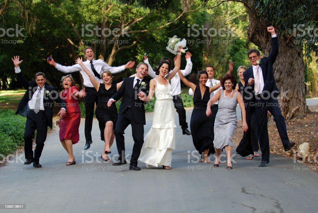 Happy Family at a Wedding stock photo