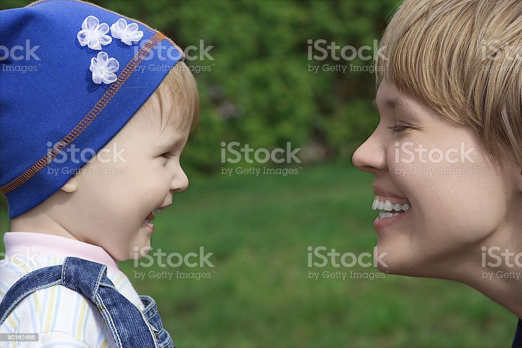 happy family child and mother royalty-free stock photo