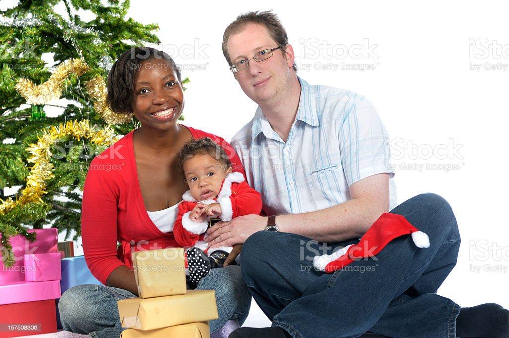 Happy Family Christmas stock photo