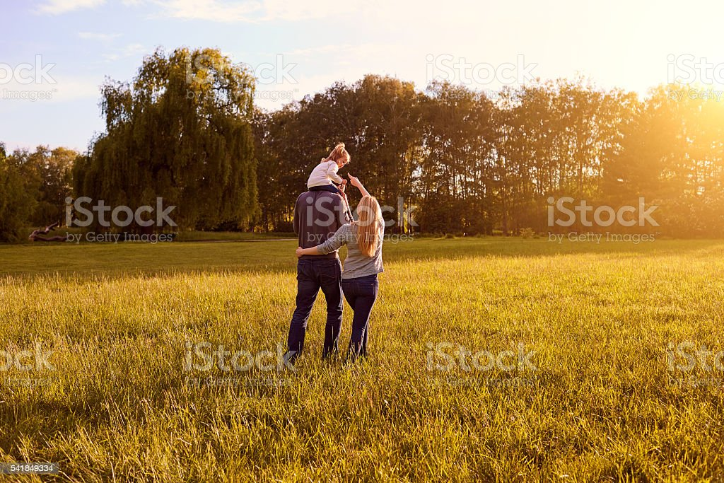 Happy family concept. stock photo
